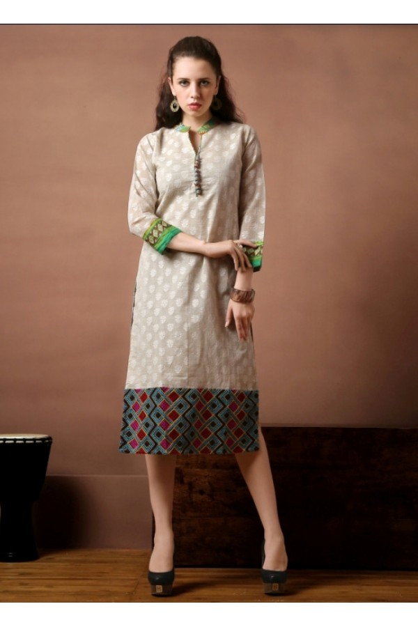 Office Wear Readymade Cotton Kurti - Darpan2057